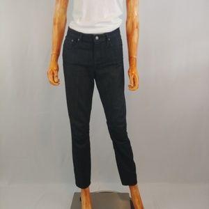 HELMUT LANG   black straight leg high rise jeans